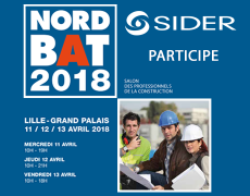 SIDER expose au salon NORDBAT 2018